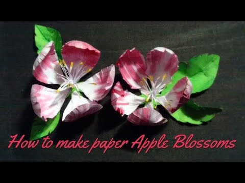 How to make paper Apple blossoms | DIY paper Apple blossoms | CREATING CRAFTING