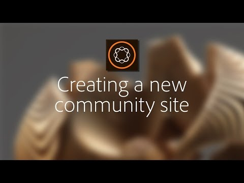 Creating a new community site