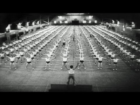 HD Stock Footage WWII New Recruits Swell Navy Ranks - Merchant Marines - Physical Fitness