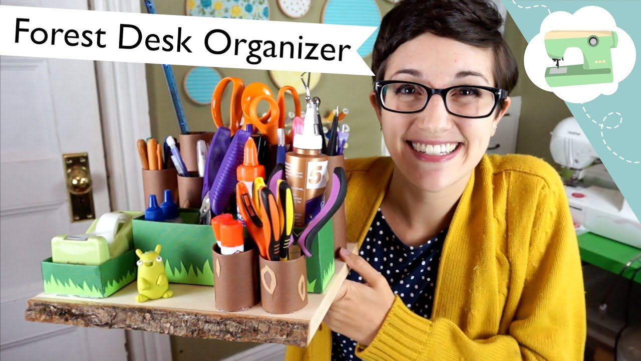 Forest Desk Organizer Tutorial Laurenfairwx Youtube