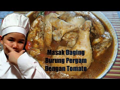Masak Daging Burung Pergam Dengan Tomato