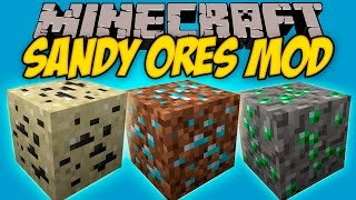 SANDY ORES MOD - Minerales en Tierra, arena!! - Minecraft mod 1.7.10, 1.8, 1.8.9 y 1.9 Review