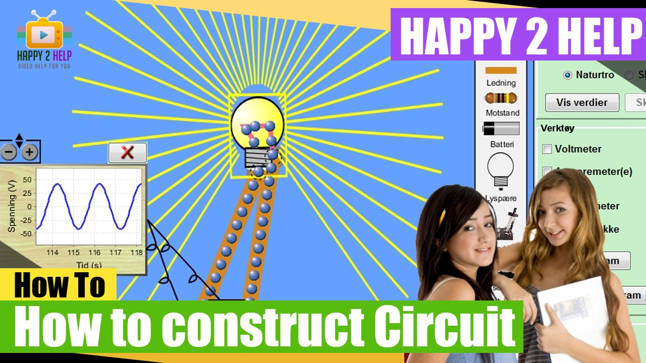 How To Construct Series And Parallel Electrical Circuits Using Circuit Software Construction Kit Youtube