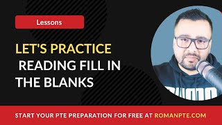 PTE Reading Fill In The Blanks Tips Tricks Webinar By ROMAN PTE