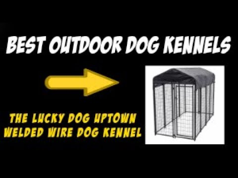 Best Outdoor Dog Kennels: The Lucky Dog Uptown Welded Wire Dog Crate Review