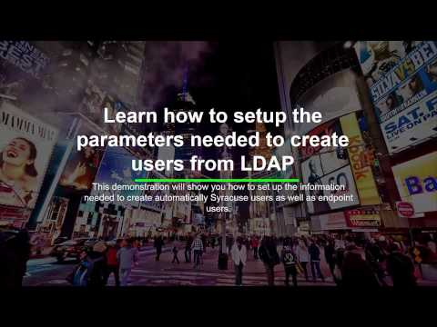 Sage X3 - Update users from LDAP directory - V11 2017