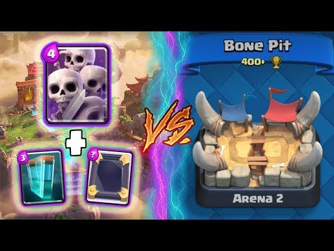 Clash Royale   SKELETON ARMY + CLONE TROLLING ARENA 2!   *FUNNY MOMENTS* (Drop Trolling #49)