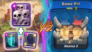 Clash Royale | SKELETON ARMY + CLONE TROLLING ARENA 2! | *FUNNY MOMENTS* (Drop Trolling #49)