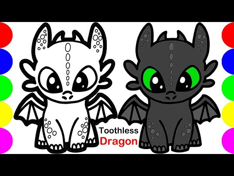 Coloring Dragon Drawing Pictures | Easy Images Art Video | Jolly Toy