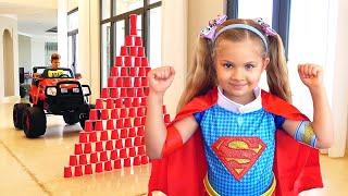 Diana se convierte en superhéroes y ayuda a sus amigos