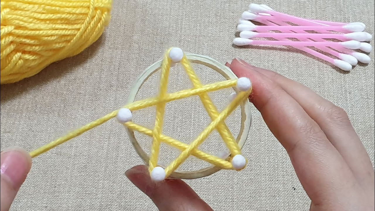 Super Easy Flower Making Idea with Woolen - Hand Embroidery Design Trick - Amazing Sewing Hack - DIY