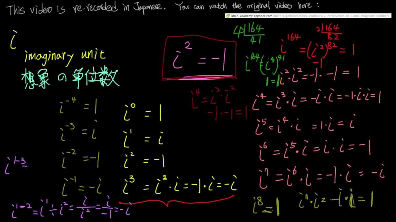 高校数学「虚数単位 i 」 Introd...