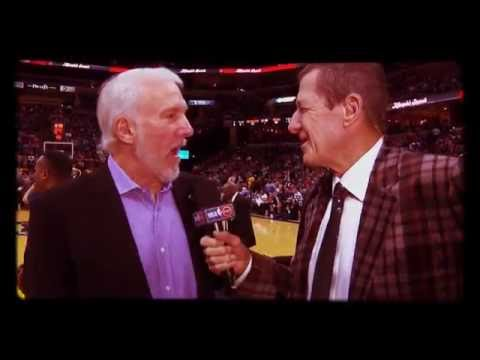 The best NBA interview of all time-Craig Sager interviews Gregg Popovic