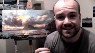 Cuillins Sunset Seascape: An oil painting time lapse demo
