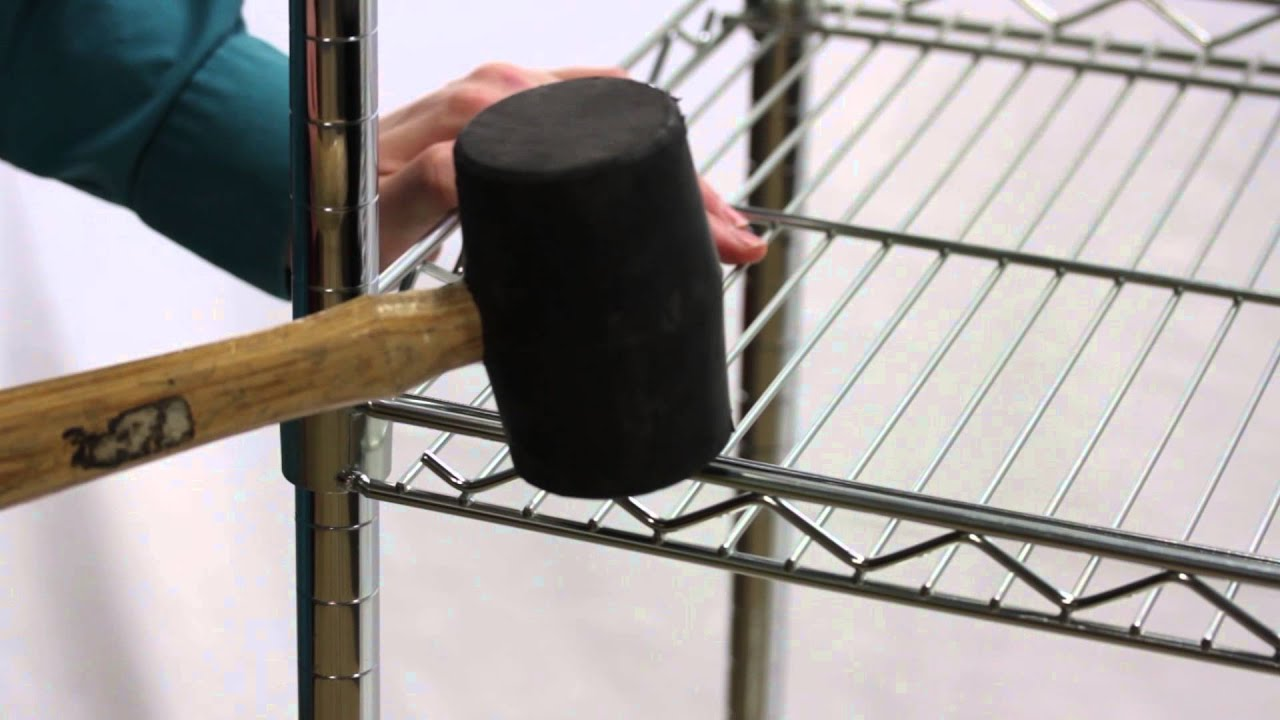 How To Disassemble Wire Shelving Youtube