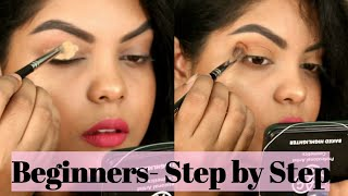 BEGINNERS-HOW TO APPLY EYE SHADOW STEP BY STEP| SOFT EVERYDAY EYE MAKEUP | KOLKATA INDIA