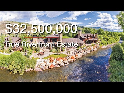 Spectacular $32,500,000 True Riverfront Estate On 2,670 Acres - RiverBend Ranch - Oakley, UT