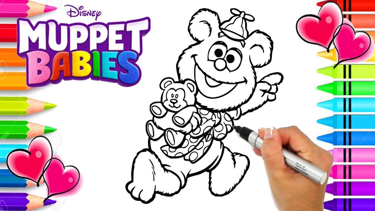 Disney Jr. Muppet Babies Fozzie Coloring Page | Muppet Babies ...