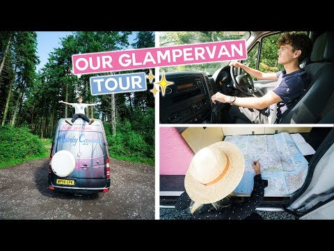 English CAMPER VAN LIFE Tour | UK Road trip (Bath to New Forest & Durdle Door) - Quirky Campers