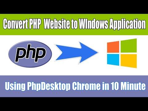PHP Desktop: Make Windows Application Using HTML, JavaScript, PHP And MySQL