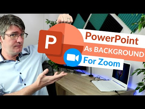 Use PowerPoint Slides as virtual background in Zoom