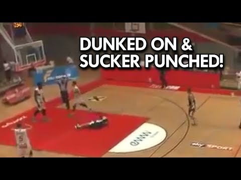 Guy gets Dunked ON then KNOCKS GUY OUT! Austrian League CRAZY PLAY