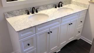 "Bathroom Remodel Renovation - Talisa 72"" Double Bathroom White Vanity"