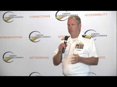 Good Morning Corona July 2017 (Captain Steve Murray, Commanding Officer of NAVSEA)