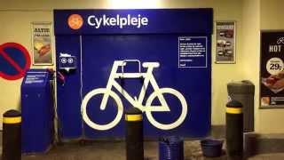 A Copenhagen Bike Cleaning Station