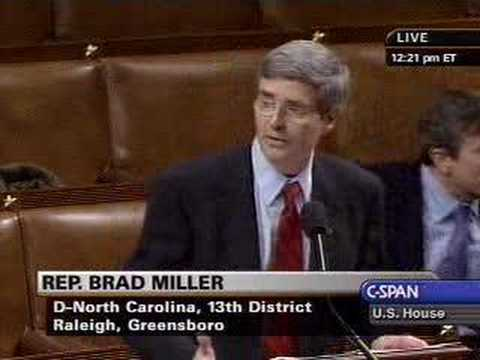 Rep. Brad Miller - Contempt for Miers and Bolten