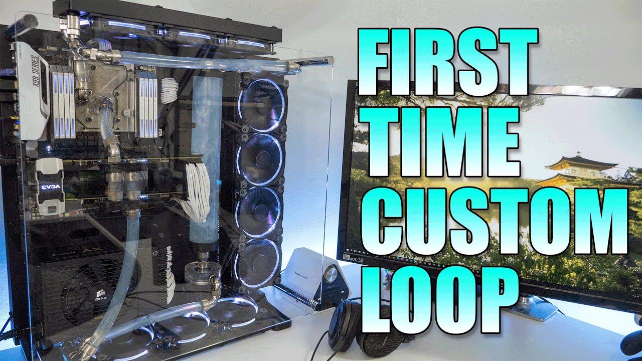 My First Custom PC Watercooling Loop!!!   Core P5   EKWB EVERTYTHING!