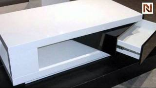 Modern White And Black Coffee Table Vgzh5010c