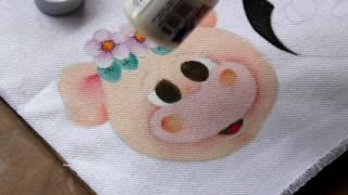 Pintura em tecido – Carinha da porquinha