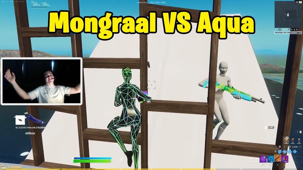 Mongraal VS Aqua 1v1 Buildfights Before Splitting up!