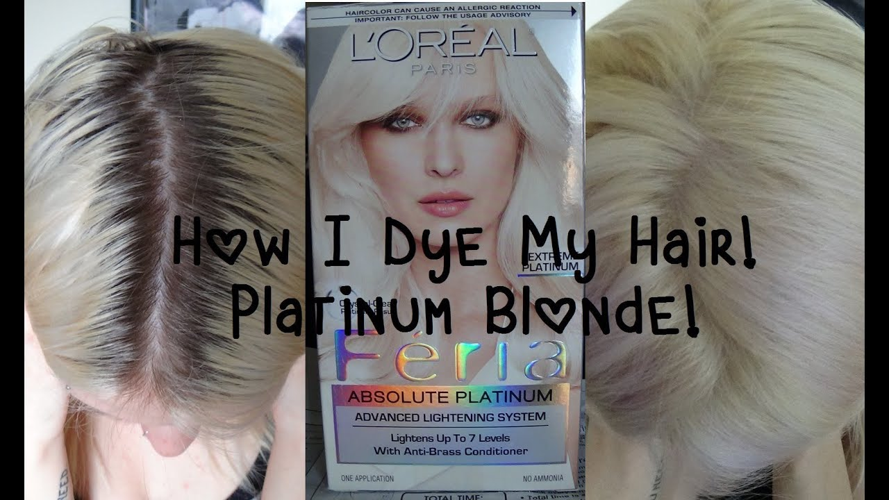 Updated How I Dye My Hairplatinum Blonde Youtube