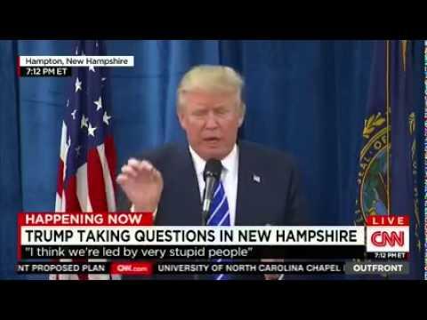 """Donald Trump: """"I love the idea of campaign finance reform"""""""