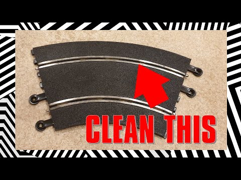HOW TO: Clean Curved Scalextric slot car track