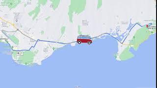 No.5 와이키키에서 코코해드 식물원로 차량이동-하와이…