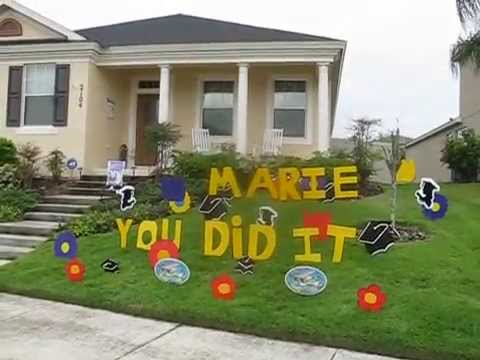 College Graduation Decorations - YouTube