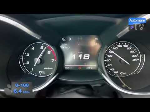 alfa romeo stelvio quadrifoglio 280hp 0-100 kmh acceleration - youtube