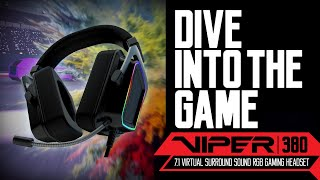 Viper V380 Virtual 7.1 Surround Sound RGB Gaming Headset from Viper Gaming by Patriot