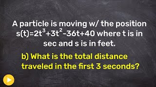 How To Find The Total Distance Traveled Of A Particle