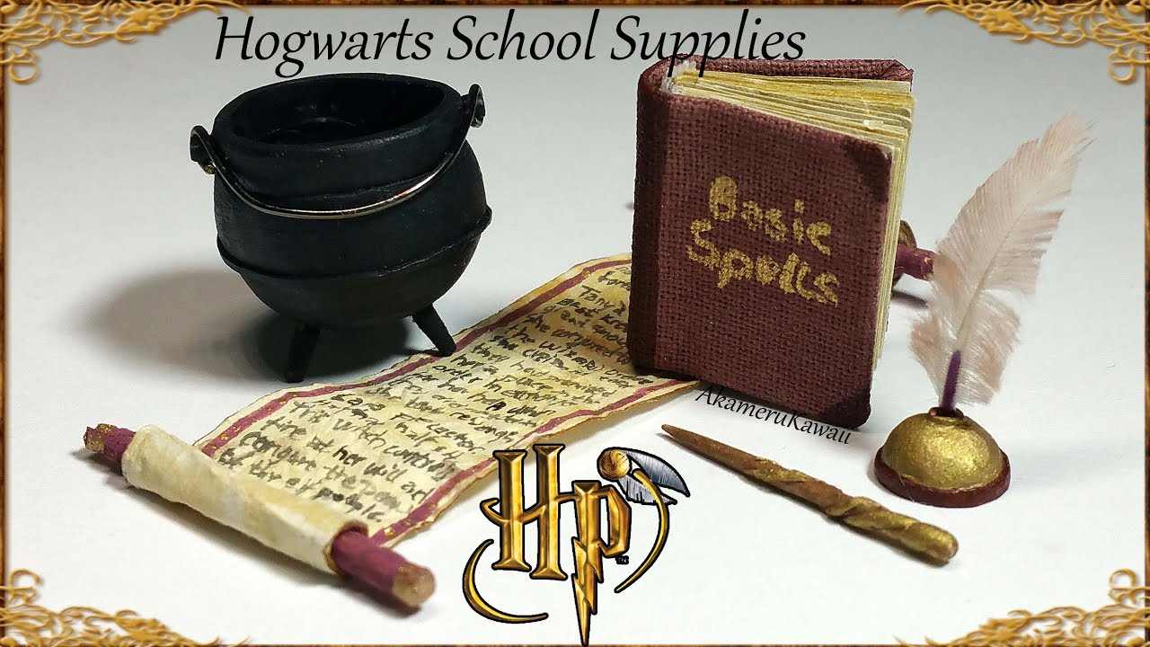 Miniature Harry Potter / Hogwarts inspired School Supplies Tutorial
