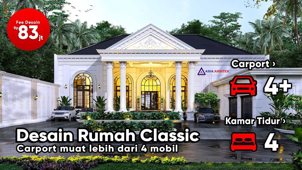 Desain Rumah Mewah Classic 1 Lantai Di Lahan 60 X 25 Meter Youtube Gambar rumah klasik 1 lantai