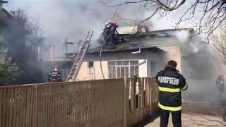 Incendiu locuinta, municipiul Giurgiu, intervine Detasamentul de Pompieri Giurgiu