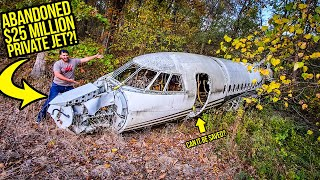 I Found An ABANDONED $25 Million PRIVATE JET In The Woods