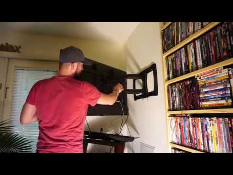 How To Install Your Own Full-motion Tv Mount (easy)