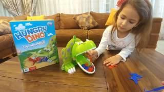 Настольная игра ГОЛОДНЫЙ ДИНОЗАВРИК.Видео для детей.Игра для детей.