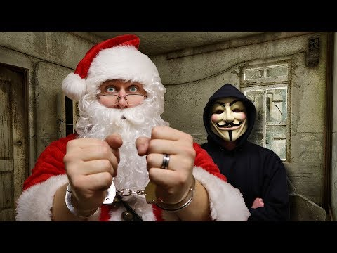 PROJECT ZORGO TAKES SANTA CLAUSE!  The Hacker must be stopped! SECRET SAFEHOUSE IN ABANDONED HOUSE