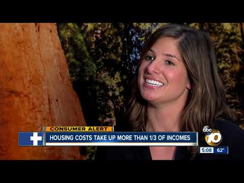 Housing costs take up more than 1/3 of incomes